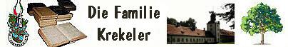Die röm-kath. Familie Krekeler - aus Lüchtringen / Höxter / Corvey